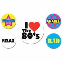 Buttons Totally 80's Party