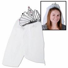 Tiara Bride w/ Veil