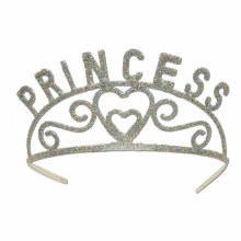 Tiara Glitter Silver Princess