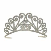 Tiara Silver Glittered