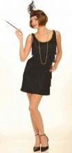 Flapper Dress Black Med/Lg