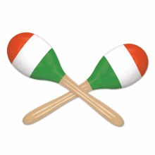 Maracas Wooden Red/Wht/Grn