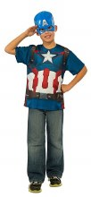 Capt America T-Shirt Child Lg