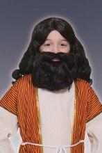 Wig Biblical w/Beard Brn CHLD
