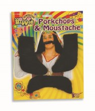 Moustache and Porkchops Set