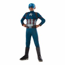 Captain America Dlx Child Lg