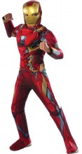 Iron Man Dlx M/C Child Lg