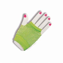 Glove Fishnet Short Neon Grn