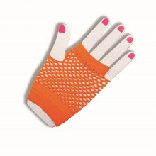 Glove Fishnet Short Orange
