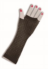 Glove Fishnet Long Black