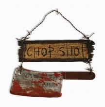 Sign Butcher Shop W/ Cleaver