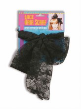 80s Lace Hair Scarf