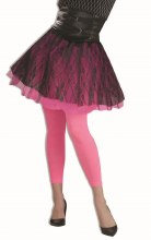 Footless Tights Hot Pink
