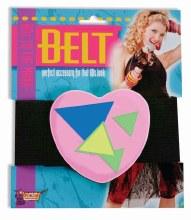 80s Belt Heart Pink