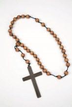 Monk Cross w/Wooden Beads