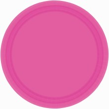 Bright Pink 7in Plates