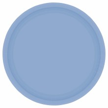 Pastel Blue 7in Plates