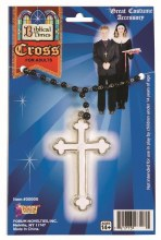Necklace Cross White