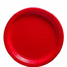 Apple Red 9in Paper Plates 20ct