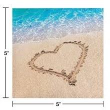 Beach Love Beverage Napkin