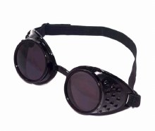 Goggles Steampunk Blk