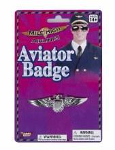 Aviator Badge Silver
