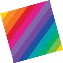 Rainbow Lunch Napkin 8ct