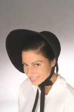 Hat Bonnet Black Felt