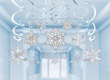 Snowflake Hanging Swirls ~ 12 Pack