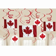 Canada Day Swirl Decor