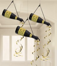 New Years Bottle Hanging Decor