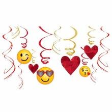 Valentine Emoji Swirl Decor