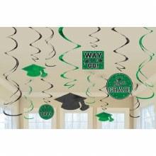 School Colors Green Foil Decor