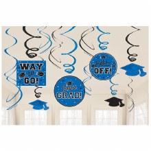 School Colors Blue Foil Decor