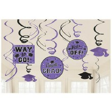 School Colors Purple Foil Decor