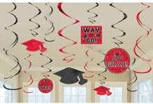 School Colors Red Foil Decor