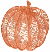 Placemat Pumpkin Vinyl