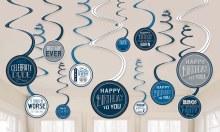 Birthday Man Swirl Decor