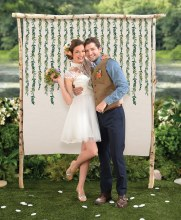 Love and Leaves Backdrop