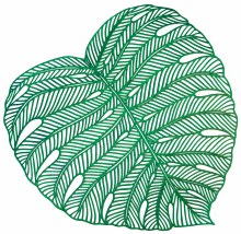 Banana Leaf Vinyl Placemat