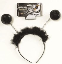 Antenna Boppers Black Sequin