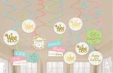 Confetti Fun Swirl Decor