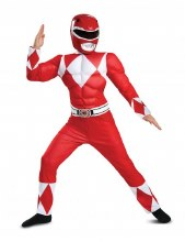 Power Ranger Red Muscle Suit Child Large
