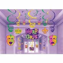 Mardi Gras Swirls Mega Value 30pk