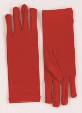 Gloves Short Nylon Red