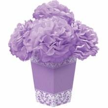 Fluffy Flower Lilac Damask Centerpiece