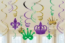 Mardi Gras Foil Swirl Decor