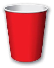 Apple Red 9oz Hot/Cold Cups 20ct