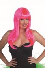 Wig Sassy Neon Ht Pink