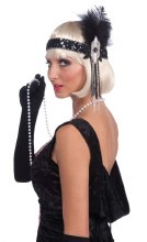 Headband Flapper Blk/Sil